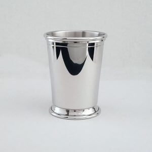 Sterling silver mint julep cup handmade in the USA