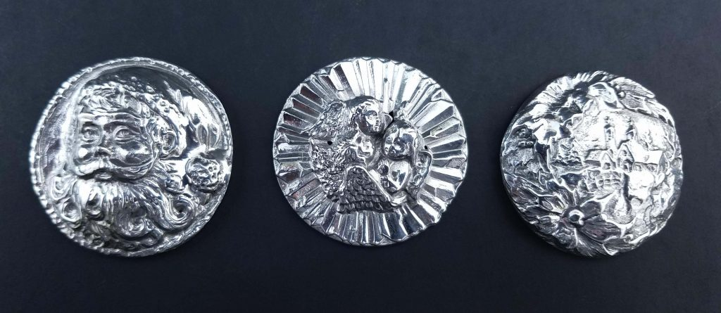 Christmas Medallions Sterling Silver Mint Julep Cups