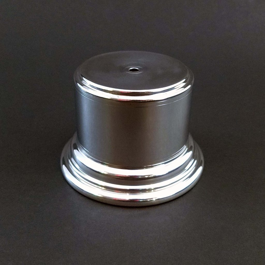 sterling silver or pewter base