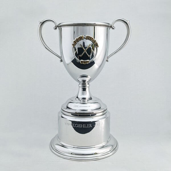 Trophy Cup with Gold Plated Medallions