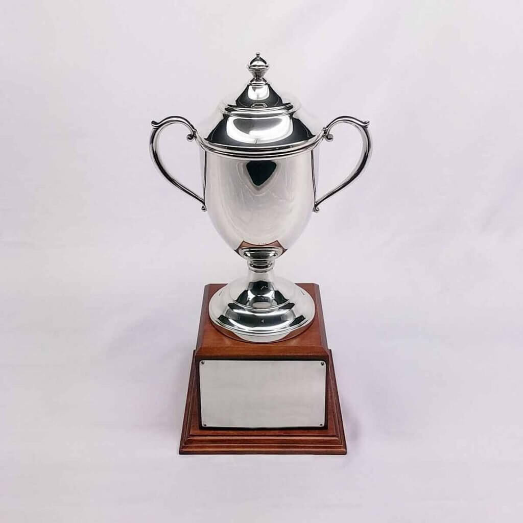 Trophy Loving Cup with Wood Base